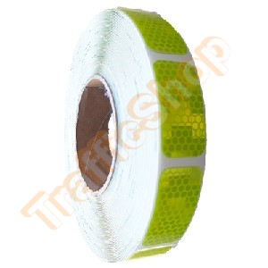 Contourmarkerings Tape Lime Segementen