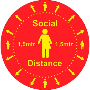Heavy Duty Vloer Sticker: Social Distance
