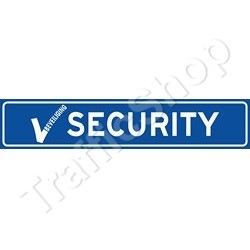 Autobord SECURITY magneet 50x10cm