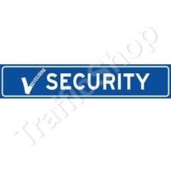 Autobord SECURITY sticker 50x10cm