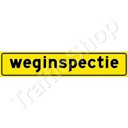 Autobord weginspectie magneet 50x10cm